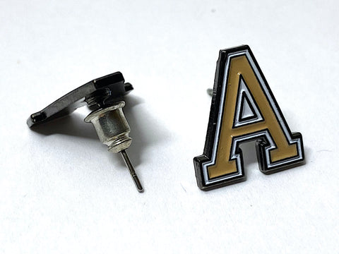 USMA block Army 'A' Post Stud Earrings