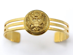 Vintage WWII US Army Button Cuff Bracelet