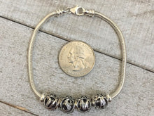 Load image into Gallery viewer, USMA Sterling Letter-Bead Bracelet