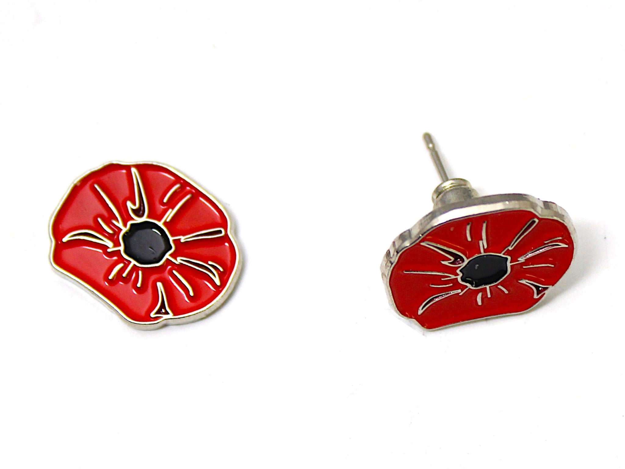 Poppy Post Stud Earrings