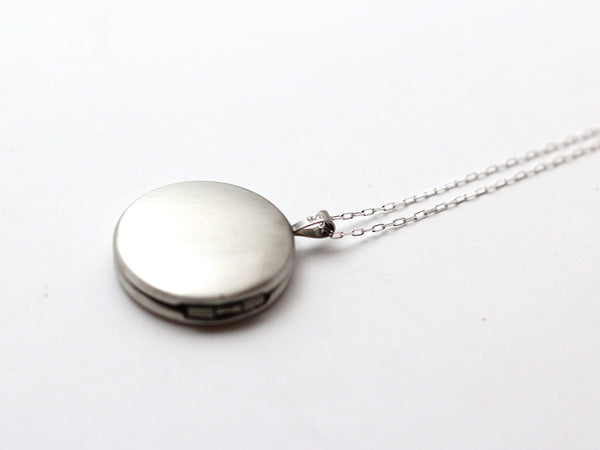 Air Force Button Silver Locket Necklace
