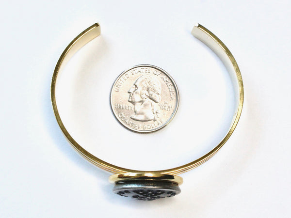 Coast Guard Button Cuff Bracelet