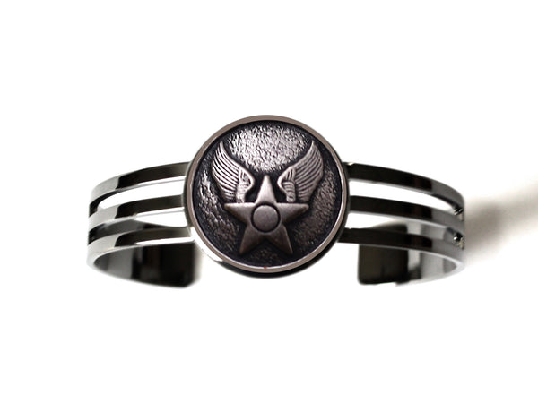 Air Force Button Cuff Bracelet