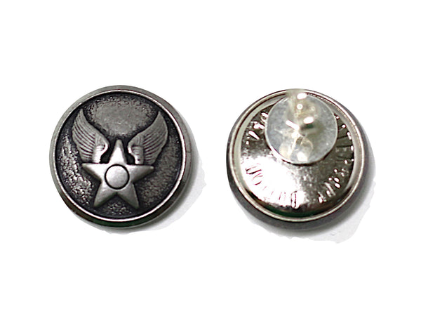 Air Force Button Post Earrings