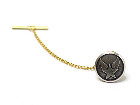 Air Force Button Gold Tie Tack