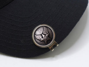 Air Force Button Golf Hat Clip and Ball Marker