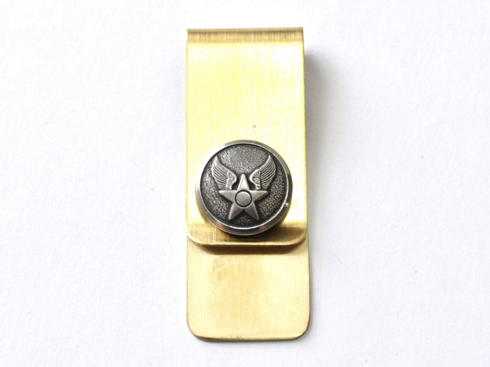 Air Force Button Money Clip