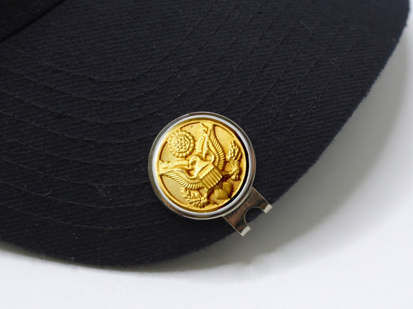 Army Button Golf Hat Clip and Ball Marker