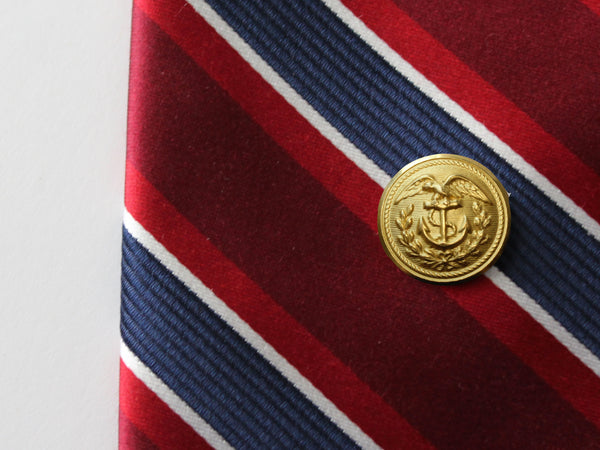 Coast Guard Button Gold Tie Tack