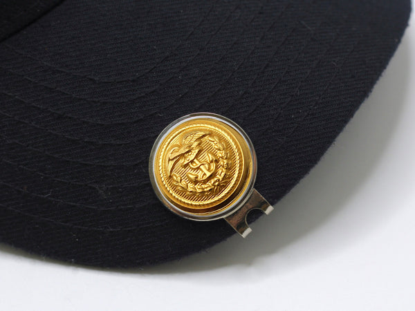 Coast Guard Button Golf Hat Clip and Ball Marker
