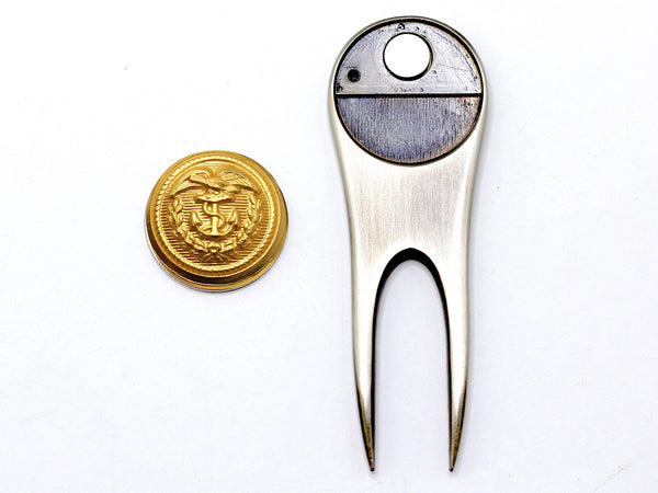 Coast Guard Button Golf Divot Tool and Ball Marker