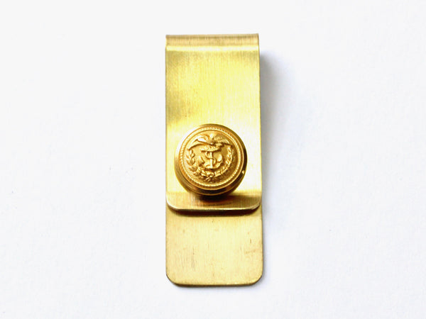 Coast Guard Button Money Clip