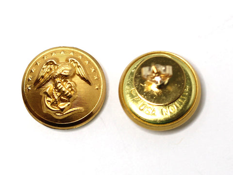 Marine Button Post Earrings