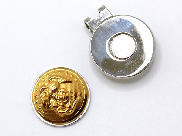 Marine Button Golf Hat Clip and Ball Marker