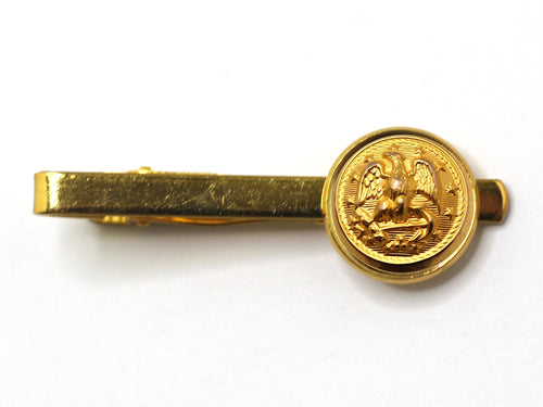 Navy Button Tie Bar
