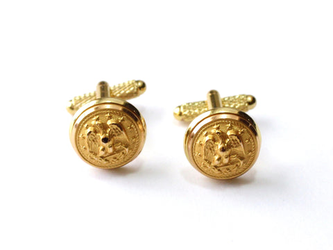 Navy Button Cufflinks