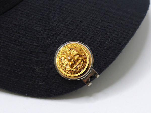 Navy Button Golf Hat Clip and Ball Marker