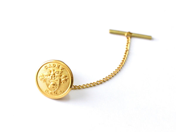 USMA Button Gold Tie Tack