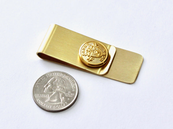 USMA Button Money Clip