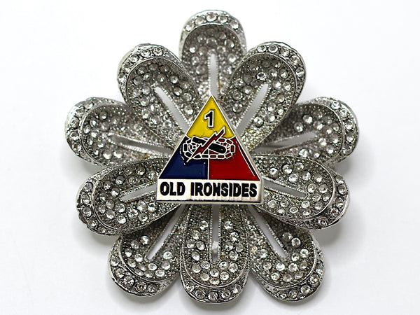 1st Armored Division Brooch