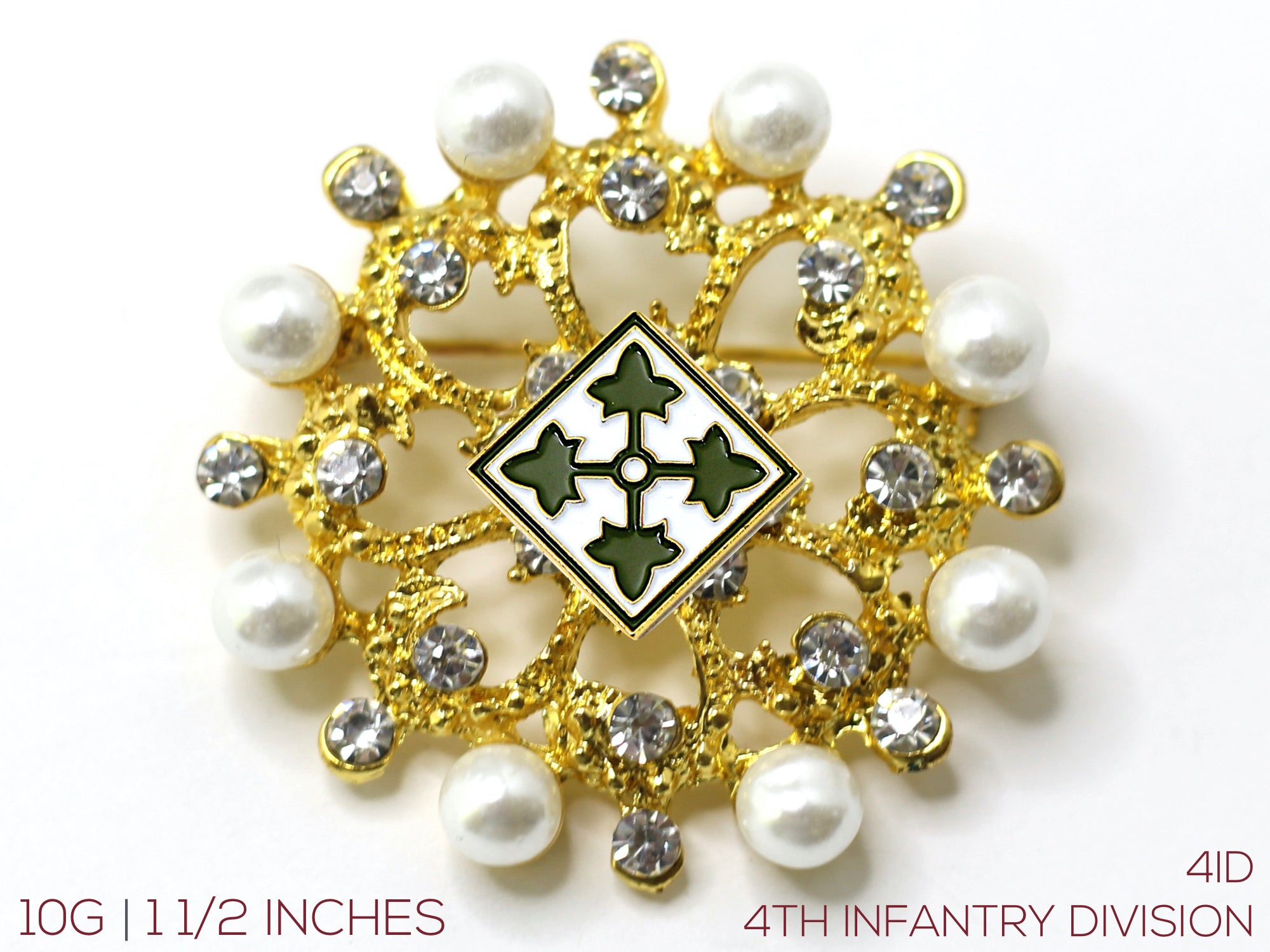 4th Infantry Division Brooch