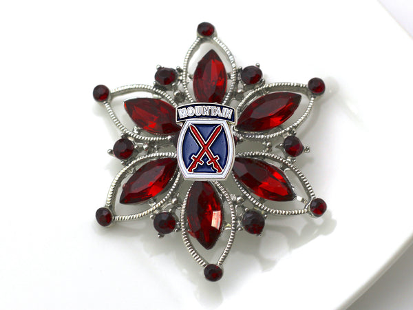 10th Mountain Division Brooch