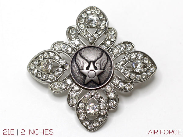 Military Button Brooch 21E