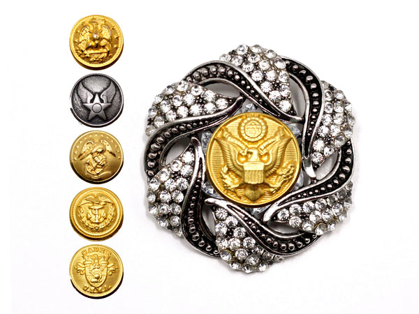 Military Button Brooch 23E