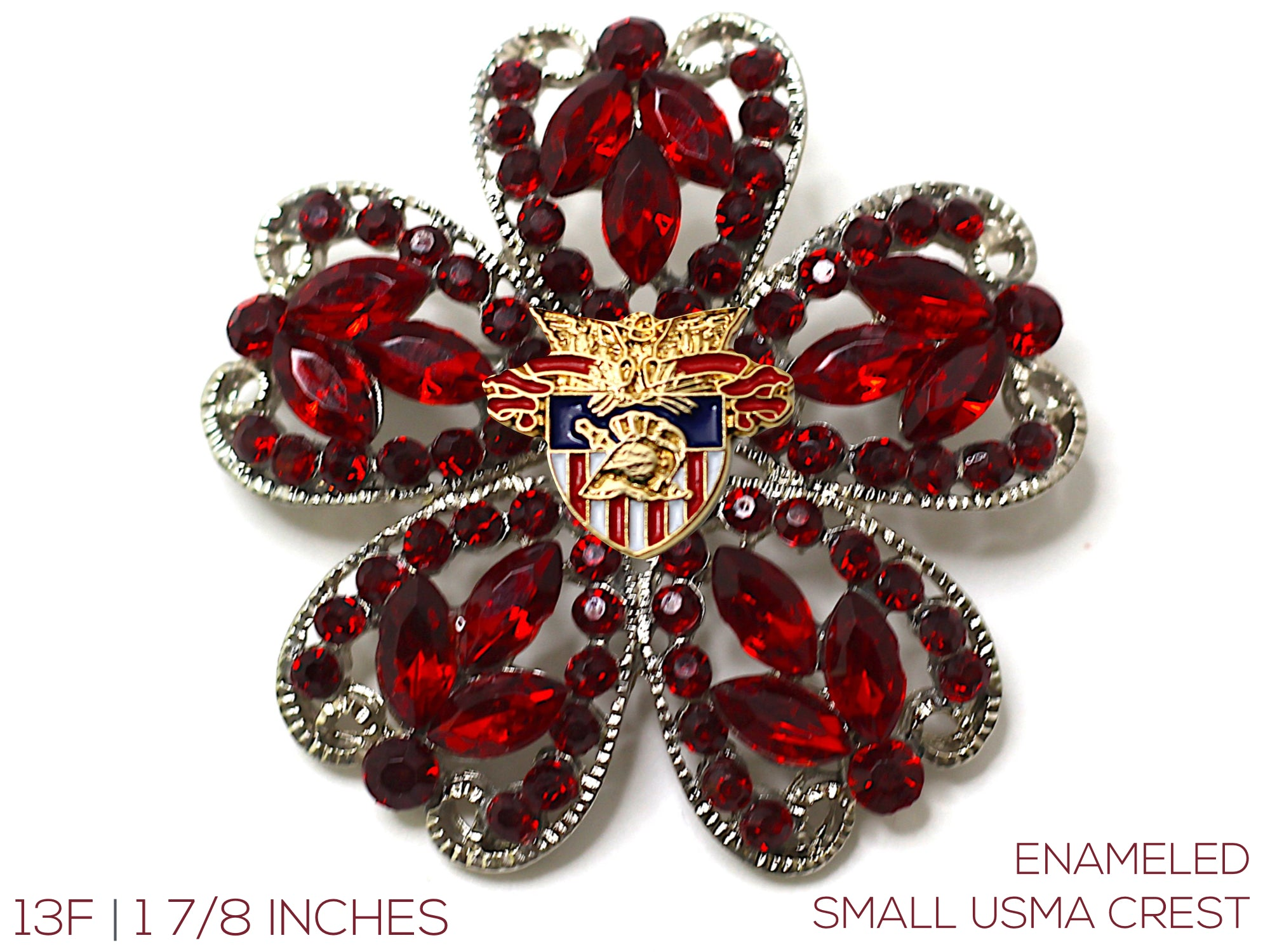 USMA Small Crest Brooch