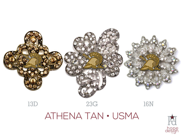 West Point Athena Tan Brooch