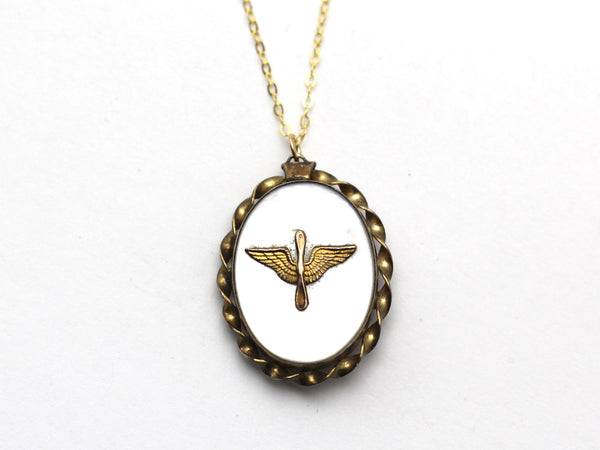 WWII-era Vintage Sweetheart Necklace | Aviation VB101
