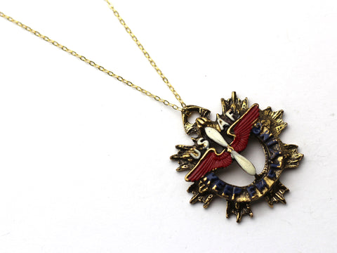 WWII-era Vintage Sweetheart Necklace | Keep Em Flying VB107