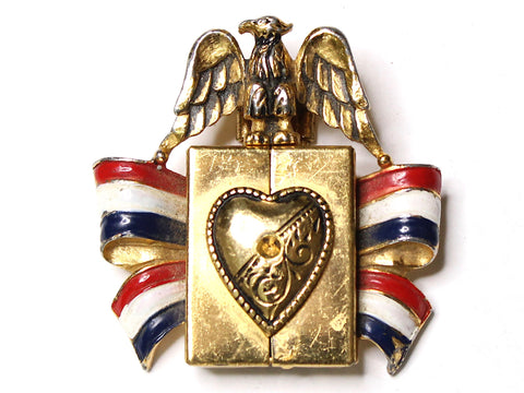 WWII-era Vintage Sweetheart Scarf Pin | Eagle Locket VB113