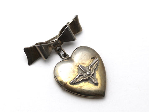 WWII-era Vintage Sweetheart Pin | Aviation Locket VB126