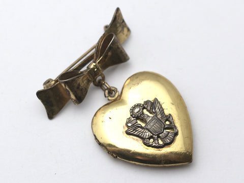WWII-era Vintage Sweetheart Pin | Eagle Locket VB127
