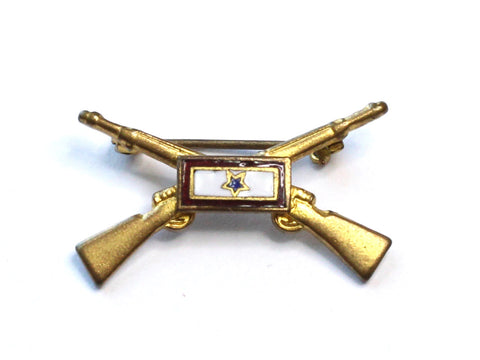 WWII-era Vintage Sweetheart Pin | Infantry and 1 Blue Star VB133