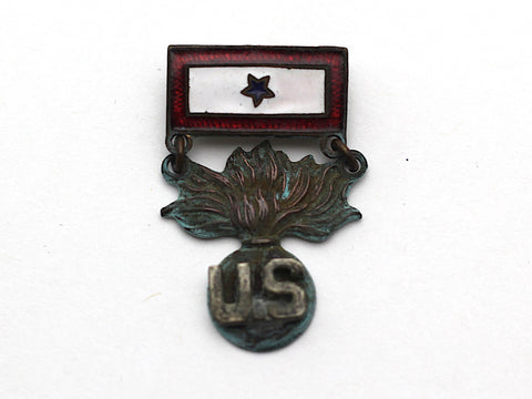 WWII-era Vintage Sweetheart Pin | Ordnance and 1 Blue Star VB144