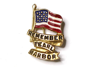 WWII-era Vintage Sweetheart Pin | Remember Pearl Harbor VB158