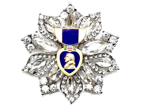 Purple Heart Recipient One of a Kind Brooch BR27