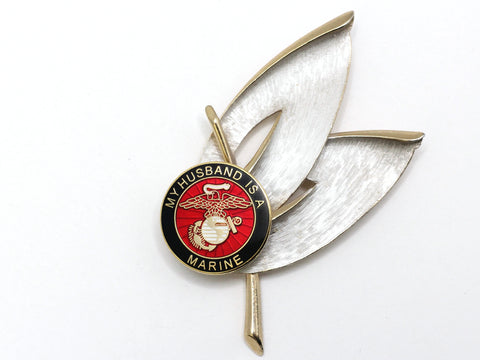 My Husband is a Marine One of a Kind Brooch BR22