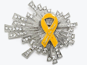 Yellow Ribbon One of a Kind Brooch BR49