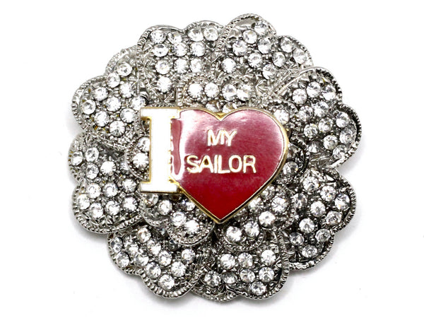 I Love My Sailor One of a Kind Navy Brooch BR1