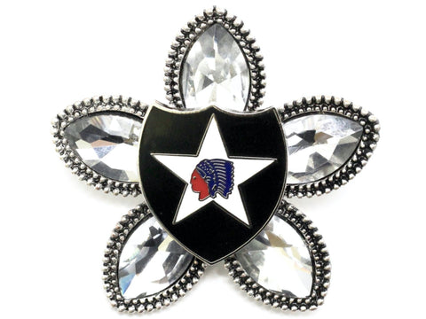 2nd Infantry Division Limited Edition Brooch BR69