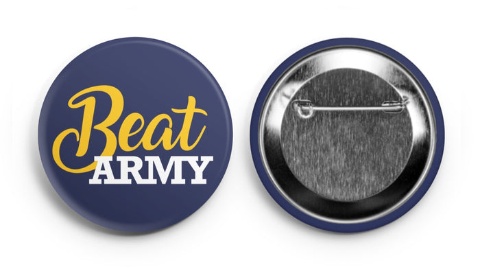 Beat Army! Navy Supporter Button