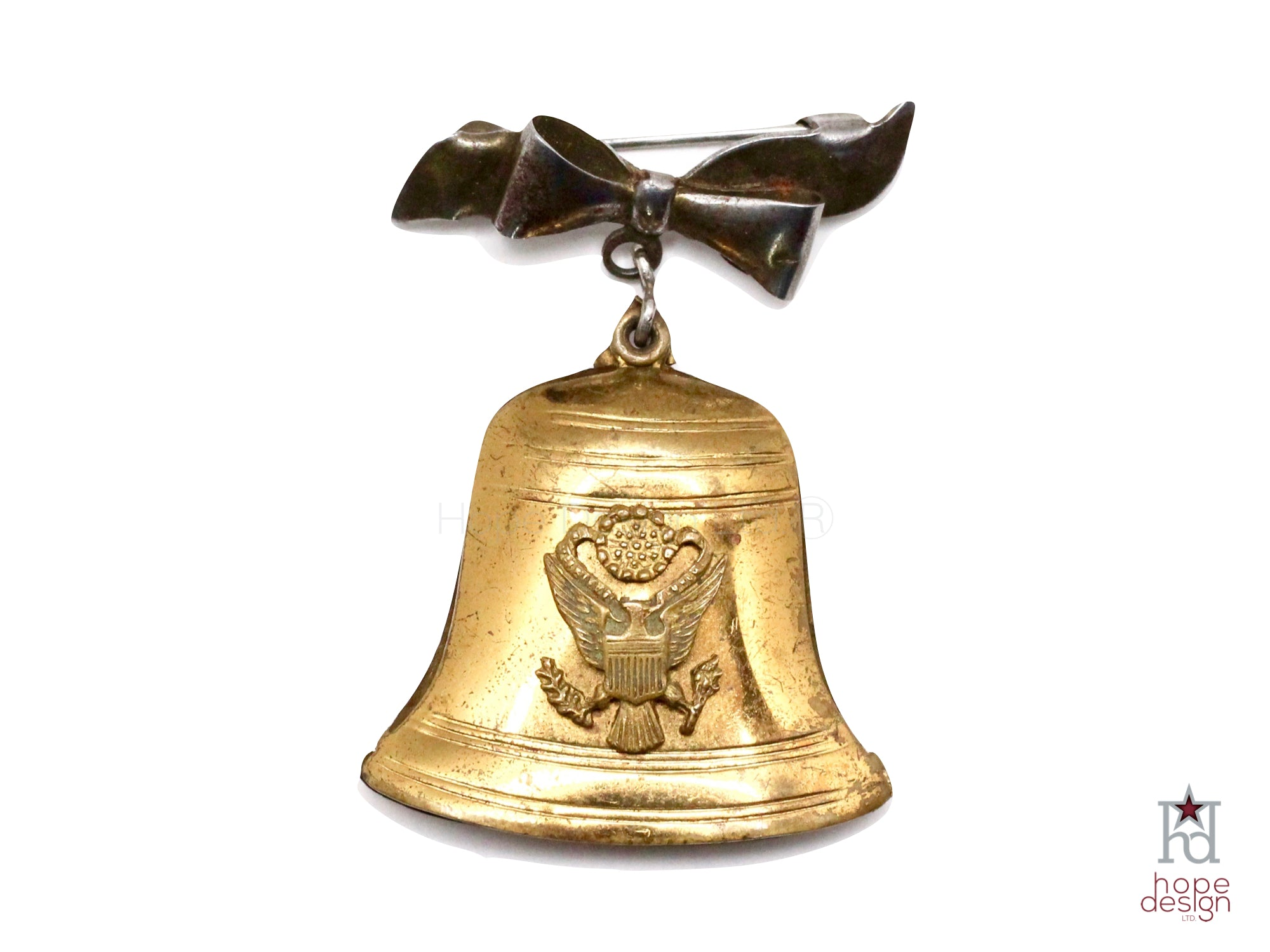 WWII-era Vintage Sweetheart Pin | Liberty Bell VB20