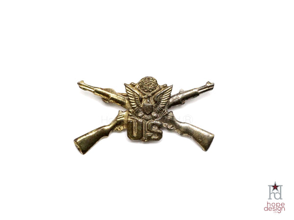 WWII-era Vintage Sweetheart Pin | Infantry Rifles VB33