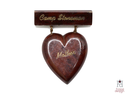 WWII-era Vintage Sweetheart Pin | Camp Stoneman Heart VB50