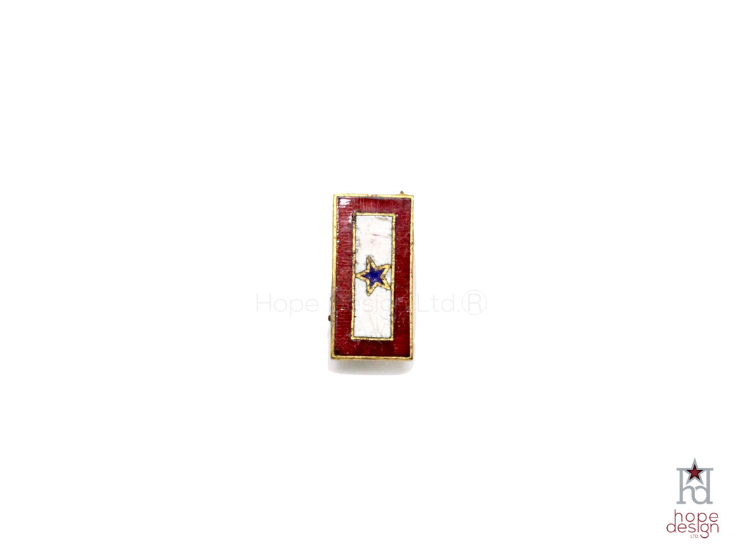 WWII-era Vintage Sweetheart Pin | 1 Blue Star VB64