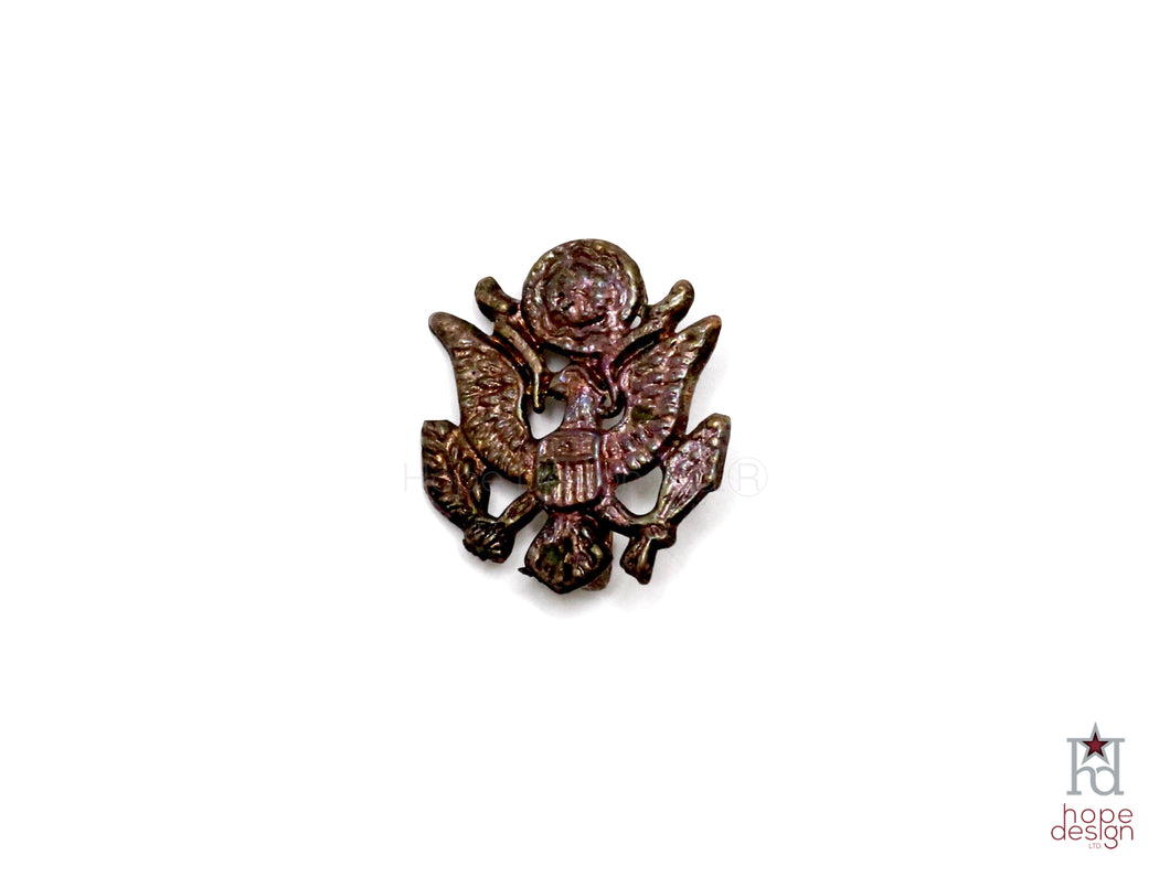 WWII-era Vintage Sweetheart Pin | Patriotic Eagle VB70
