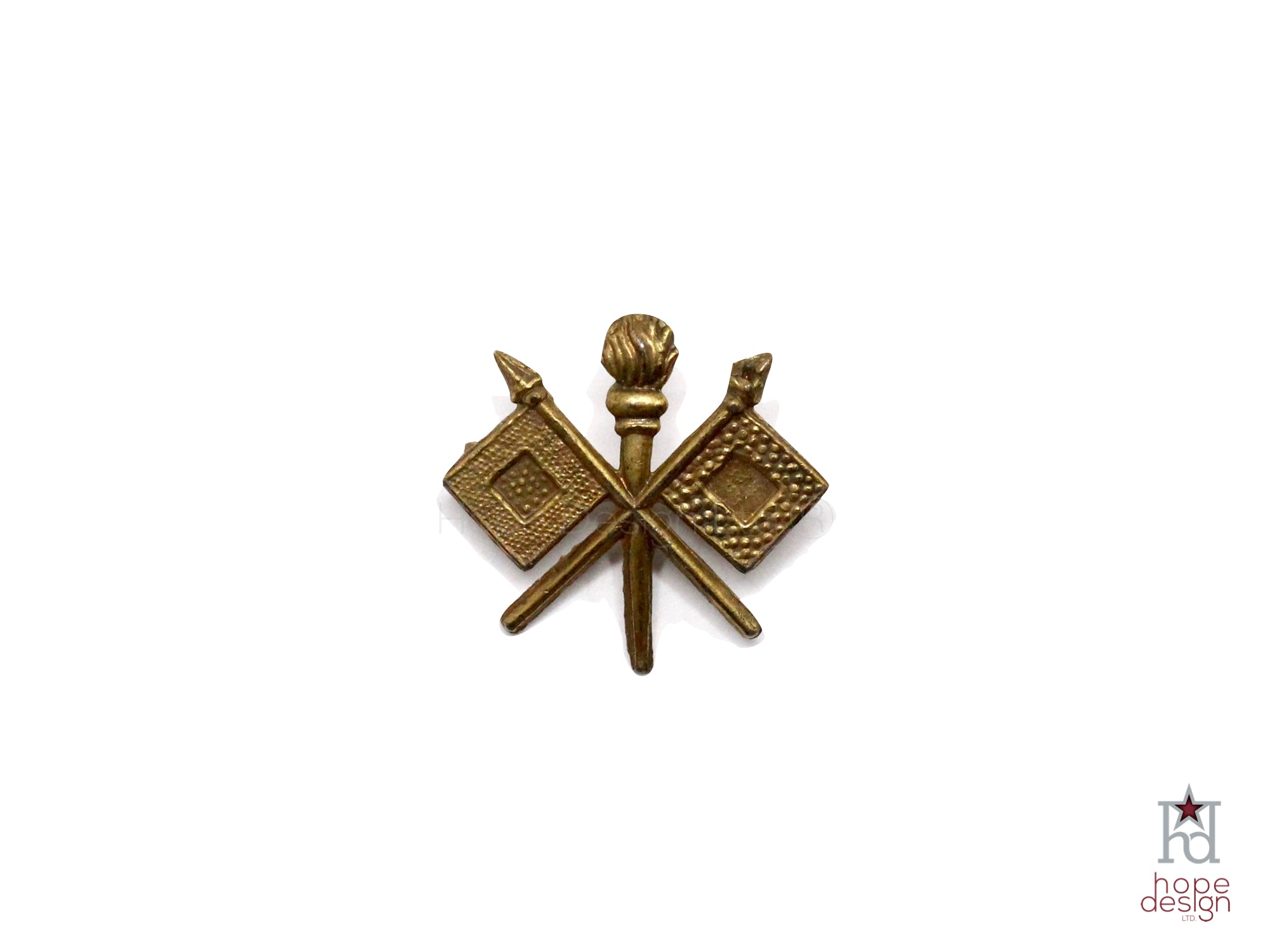 WWII-era Vintage Sweetheart Pin | Army Signal Corps VB76